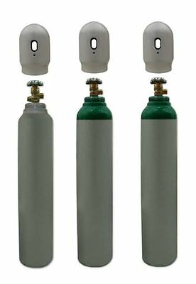 Oxygen O2 Gas Bottle Cylinder New! Full! 1.3m3 8L 150 Bar 3/4 EU THREAD