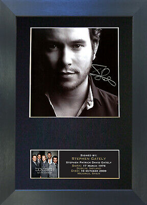 STEPHEN GATELY Boyzone Signed Mounted Autograph Photo Prints A4 89