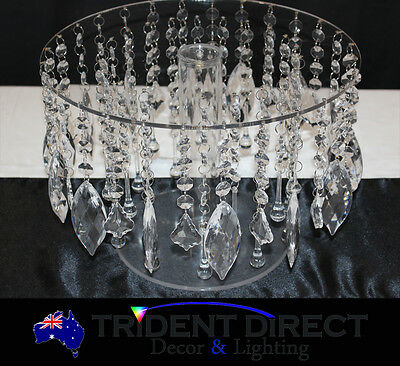 "Chandelier Pendant Crystal Cake Stand 14""-35cm"