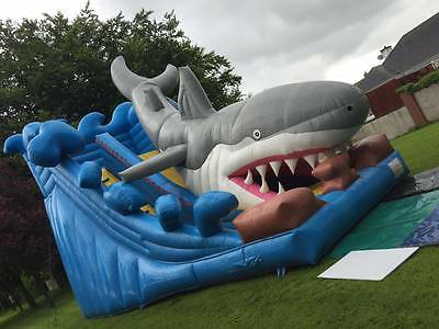 bouncy castle inflatable event slide shark attack excellent show piece popular