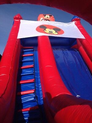 bouncy castle inflatable disney slide mickey & minnie mouse
