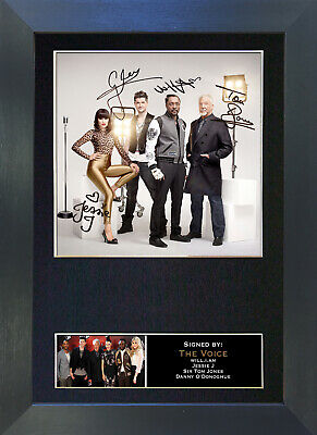 THE VOICE Signed Mounted Autograph Photo Prints A4 11