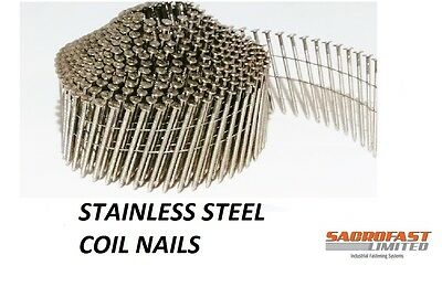 Stainless Steel 2.1/50Mm Conical Wire Collated Coil Nail 14,400 Nails