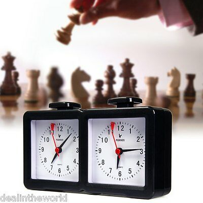 LEAP Quarz Analog Chess Clock I-go Count Up Down Timer for Game Competition