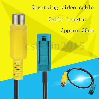RCA Fakra Video Adapter Cable Reversing Camera Dedicated Connecting 30cm For Car