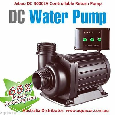 New Jebao DC 3000 L/H 25w 7 Speed DC Return Pump + AU Transformer + 1 Yr Wty