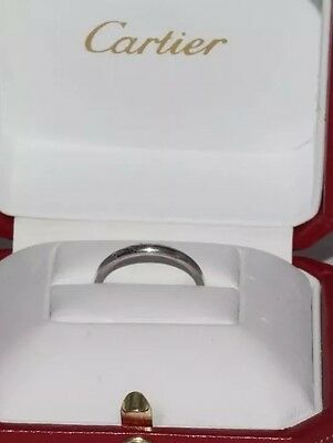 Stunning Secondhand French Cartier Platinum Ring size K (51)
