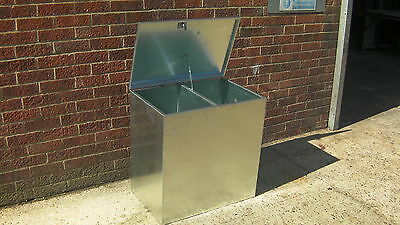 Horse Feed Bin Two 2 Compartment Animal/Livestock Food Storage Galvanised Steel