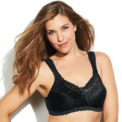 New Playtex 18 Hour Seamless Smoothing Wire-Free Bra Style 4088 Black White