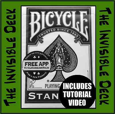 Magic Trick. The Invisible Deck + Video Tutorial. Red or Blue. Bicycle Cards New