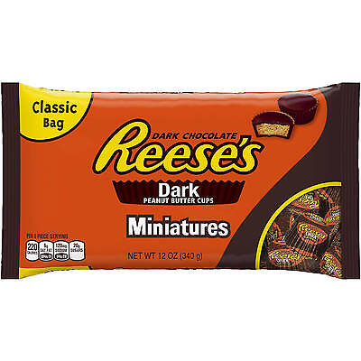 1-Bag Reese's Miniatures Dark Peanut Butter Cups 12oz EXPEDITED SHIPPING