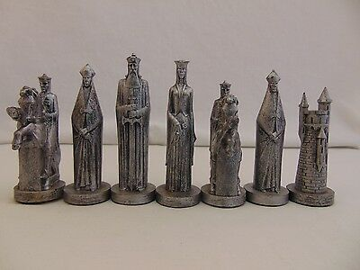 Vintage Conqueror Chess Replacement Parts by Peter Ganine 1962 Gold Silver