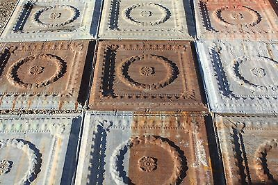 Antique Pressed Tin Ceiling (25 pieces) 100 Sq. Ft.  ***Free Shipping***