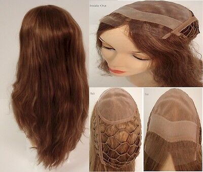 "16"" Lace Front Integration French Refine Human Hair Pieces"