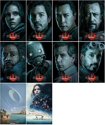 10 Rogue One: A Star Wars Story 2016 Promo Card PVC CHARACTOR Transparent CARD