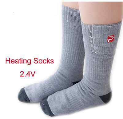 2.4v Battery Heated Socks Cold Feet Foot Warmer Heated Insoles UK 5-9 UK SELLER