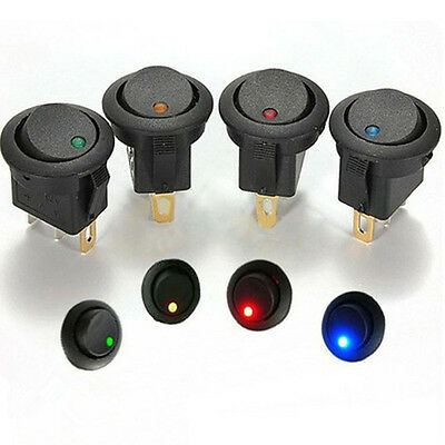 Led Dot Light 12V Car Auto Boat Round Rocker ON/OFF Toggle SPST Switch Hot Sale