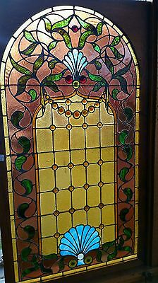 Antique Arched Stained Glass Window