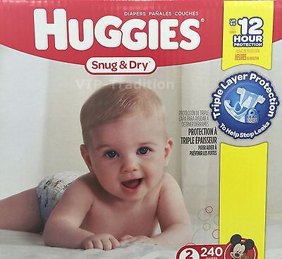 Huggies Snug and Dry Diapers, Step 2 Economy Plus, 240-Count, Ships From Canada