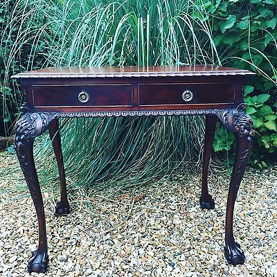 Georgian Style Irish Mahogany Carved Side Table