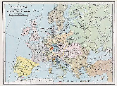 1952 Antique Map of Europe