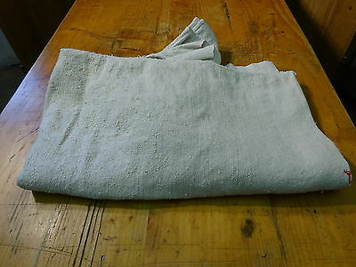 Antique European Linen, Hemp,Flax Homespun Linen Sheet 75'' x 48'' #7582