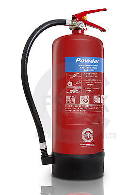 6 KG ABC POWDER FIRE EXTINGUISHER - COMMERCIAL WAREHOUSE  TRUCKS  BSi KITEMARKED
