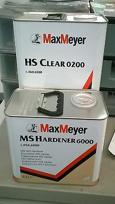 Max Meyer 0200 Lacquer With 6000 or 8000 Hardner 7.5 Ltr Kit
