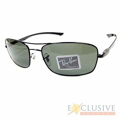 94abc23373dac NEW RAY BAN Rb8309 Sunglasses Color 002 9A Shiny Black Size 59-18 ...