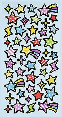 Sterne bunt * Softy Design Sticker * Aufkleber Scrapbooking Dekoration