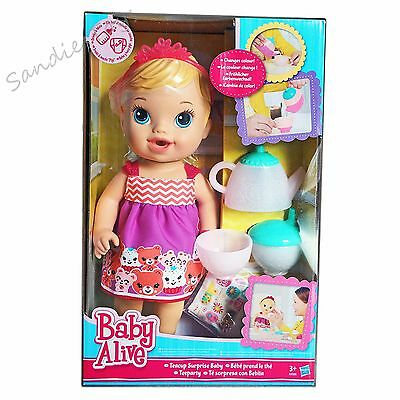 """Baby Alive Teacup Surprise Baby Blonde Doll 12.50"""" Playset NEW"""