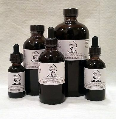 Alfalfa Tincture, Extract, Meidcago Sativa, Multiple Sizes, Highest Quality