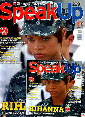RARE RIHANNA MAG WITH CD = Speak Up Magazine Brazil BATTLESHIP AUDIO CONTENT WOW
