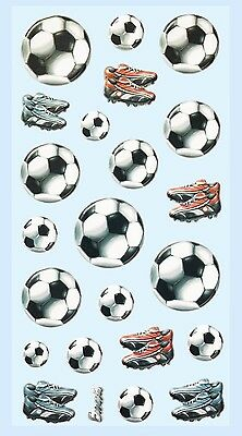 Fussball Fußball * Softy Design Sticker * Aufkleber Scrapbooking Dekoration