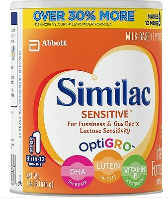 Similac Sensitive Stage 1 Infant Formula with Iron 1.86 lb 0-12 Months 06/17