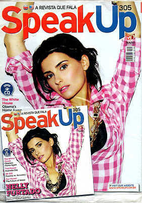 RARE NELLY FURTADO MAG WITH CD = Speak Up Magazine Brazil NELLY INTERVIEW ON CD!