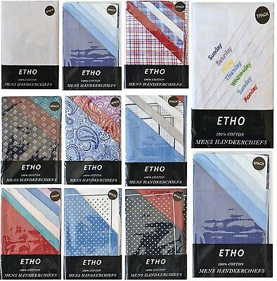 Paisley Check Mens 100% COTTON Pocket Square Hanky Wedding Party Handkerchiefs