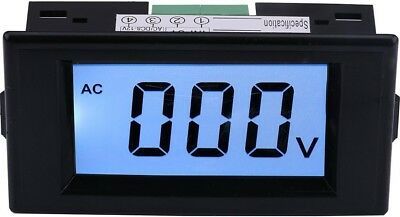 Yeeco AC 0-600V LCD Display Digital Voltmeter Volt Panel Meter Voltage Mo... NEW