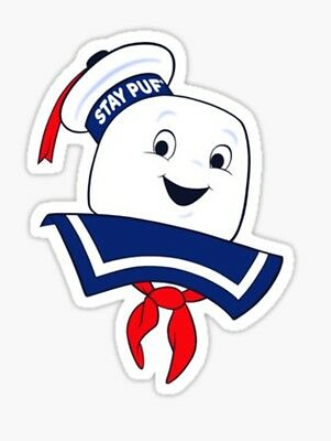 Ghostbusters Stay Puft marshmallow ghost slimer Sticker decal car laptop cute