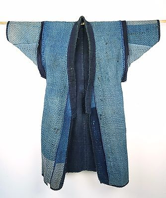 Japanese Antiques- Indigo  Sashiko Overgarment from 19th century