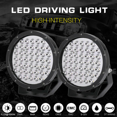 7inch 28800w Blk Round Cree Led Driving Spotlights Work Offroad 4WD HID BAR LAMP