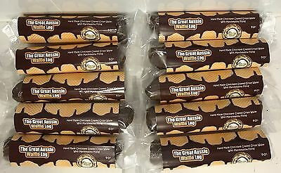 10x THE GREAT AUSSIE WAFFLE LOG CHOCOLATE MARSHMALLOW