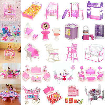 Dollhouse Room Furniture Miniature Accessories Kids Girls Pretend Role Play Toys