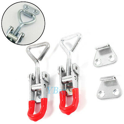 2Pcs Cabinet Drawer Toolbox Chest Case Metal Toggle Latch Catch Clasp Hasp Clamp