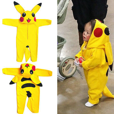 New Pikachu Infant Baby Girl Boy Romper Jumpsuit Playsuit Outfit Cosplay Costume