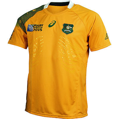 Wallabies 2015 Rugby World Cup Mens Replica Home Jersey New/Tags Size L & XL
