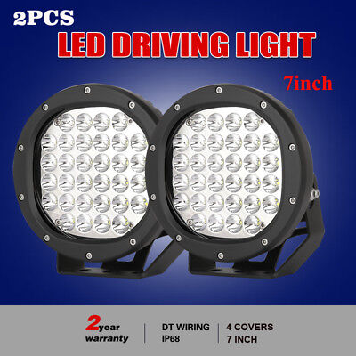 7inch 28800W Cree Black LED driving light Work Light Spot Beam offroad SUV round