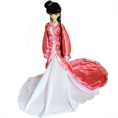 699# Pink Chinese Classical Long Dress/Suit/Outfit For 1/3 SD BJD Dollfie