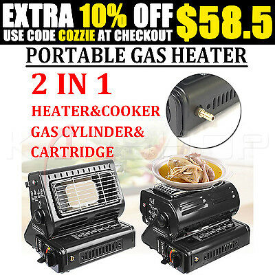 OZ Portable Butane Gas Heater Picnic Camping Hiking Outdoor Dual-purpose Use CE