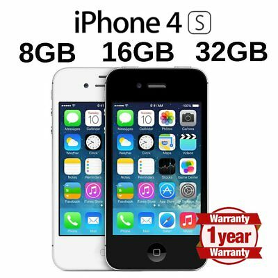 Apple iPhone 4s 8 16 32 64GB Factory Unlocked Smartphone Mobile Black White UK
